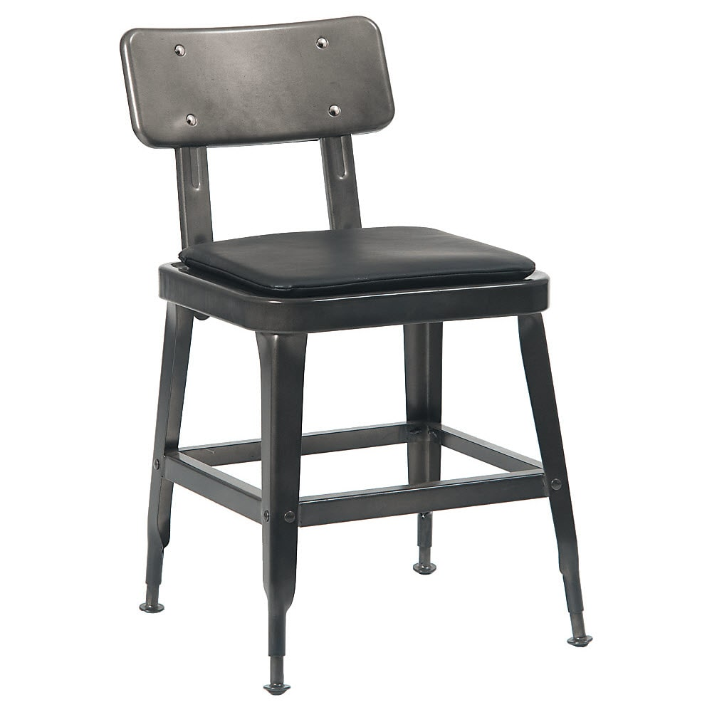 Laurie Bistro-Style Metal Chair in Dark Grey