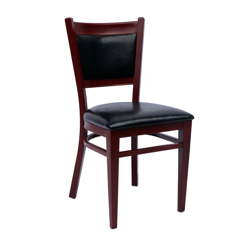 Metal Padded Back Chair with Premium Wood Look Finish