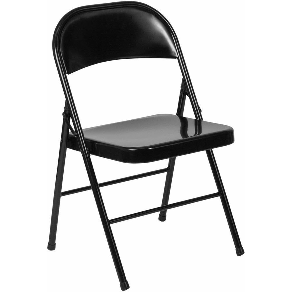 Double Braced Metal Folding Chair
