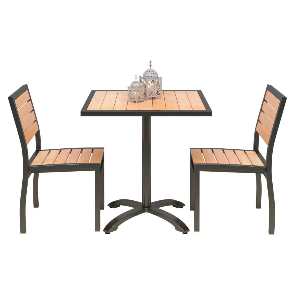 Set of 2 Black Heavy Duty Patio Chairs with Table with Set of 2 Black Heavy Duty Patio Chairs with Table