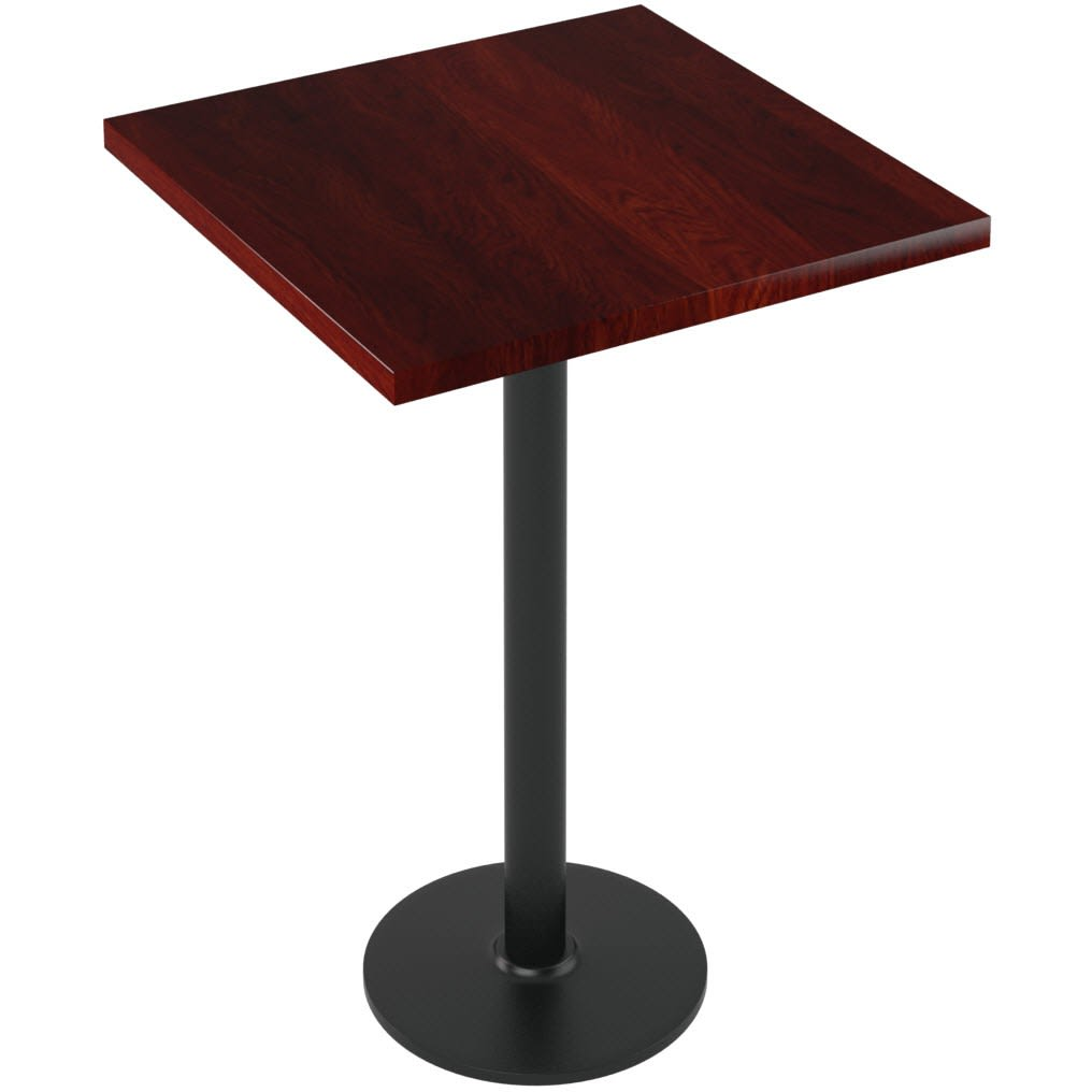 Premium Solid Wood Plank Restaurant Table - Bar Height