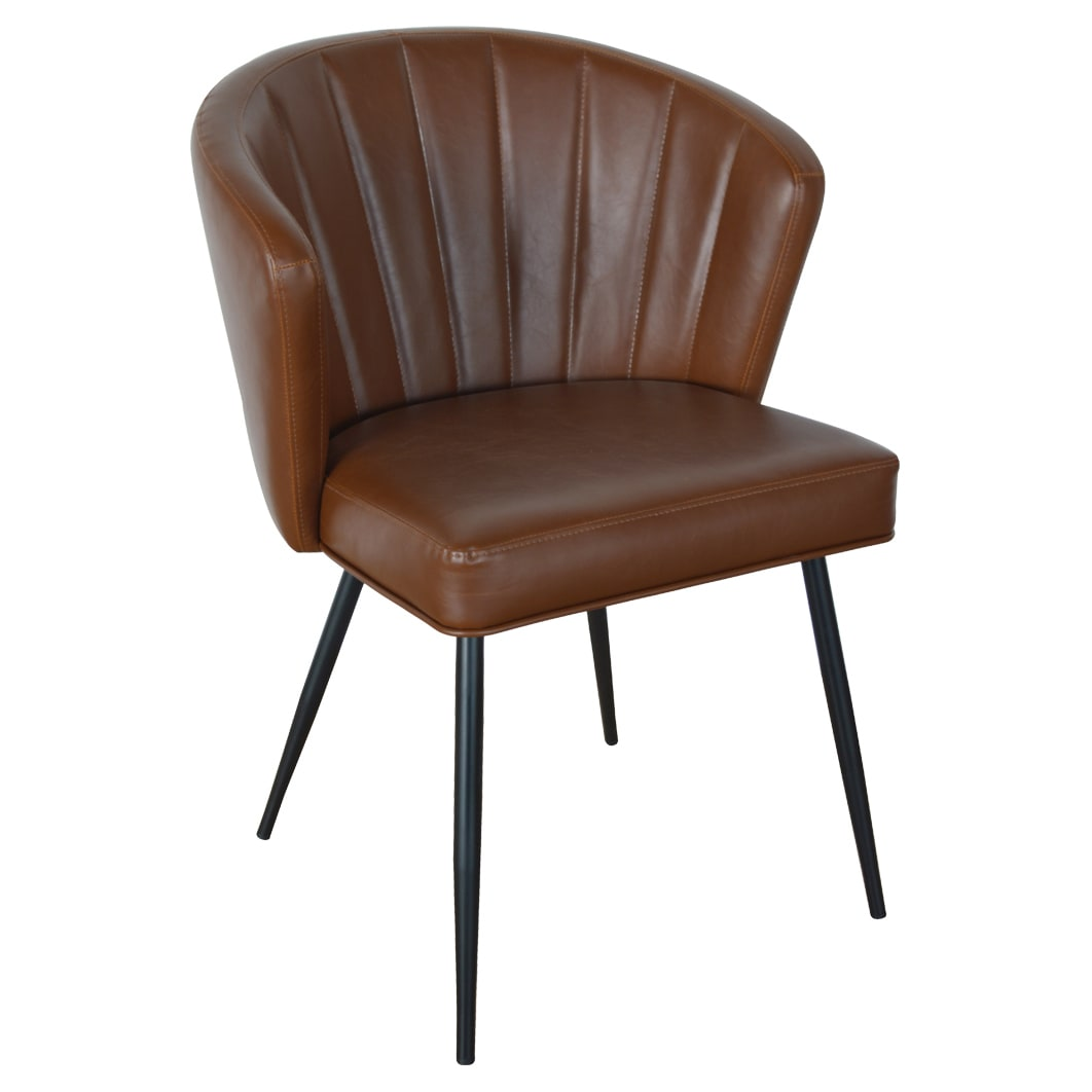 Deco Style Padded Metal Chair