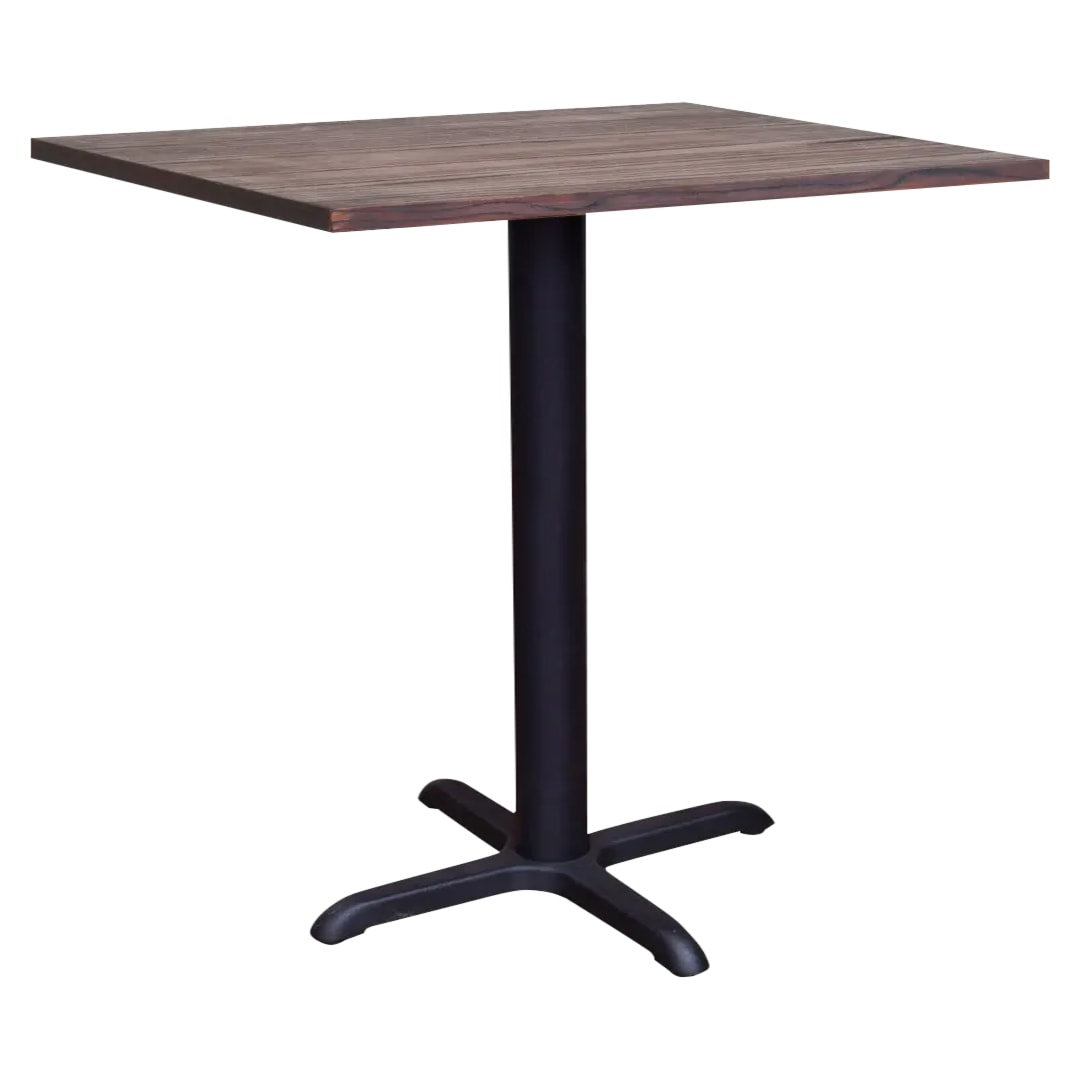 "Industrial Series Restaurant Bar Table with Black X Prong Base - 42"" Ht"