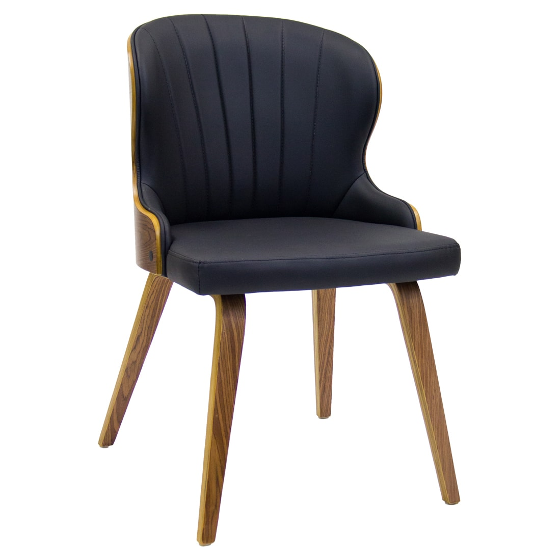Clam-Back Wood Chair