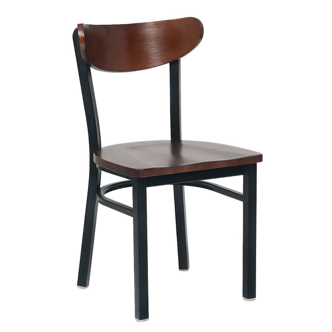 Modern Curved Back Metal Chair