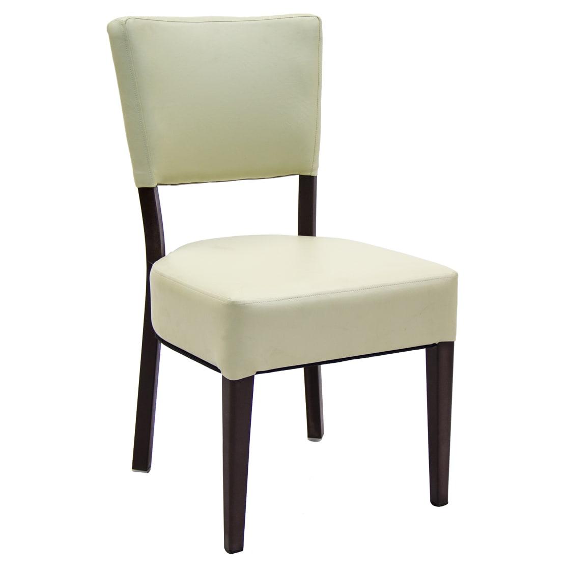 Lumme Metal Chair in Ivory Vinyl