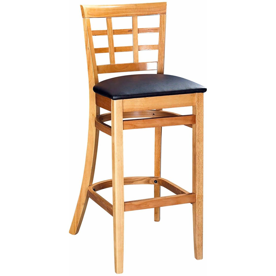 Window Back Wood Restaurant Bar Stool