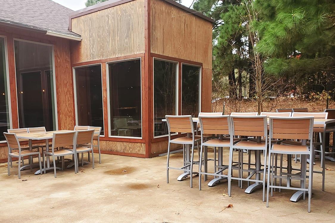 patio plastic teak furniture sets