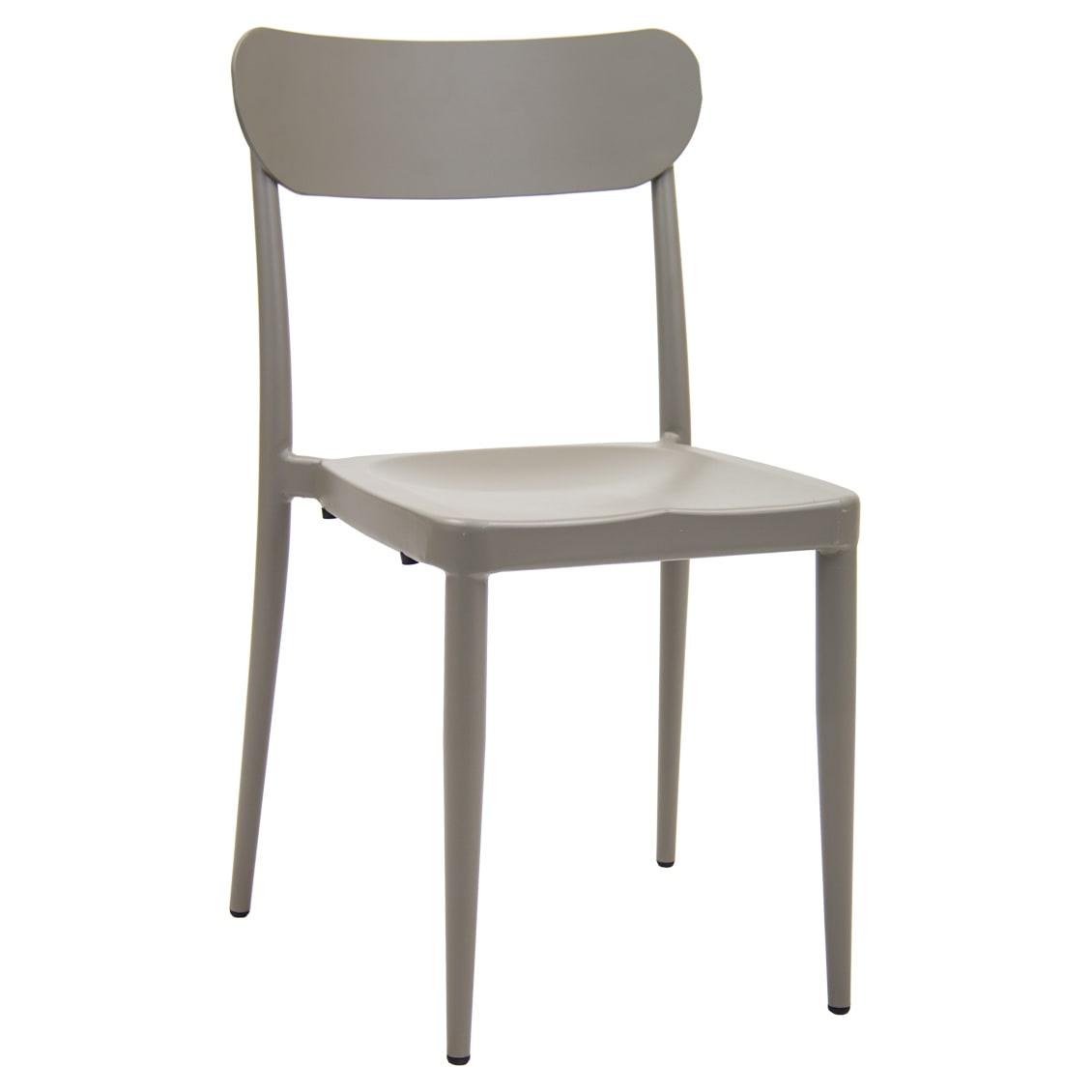 Modern Style Gray Aluminum Patio Chair