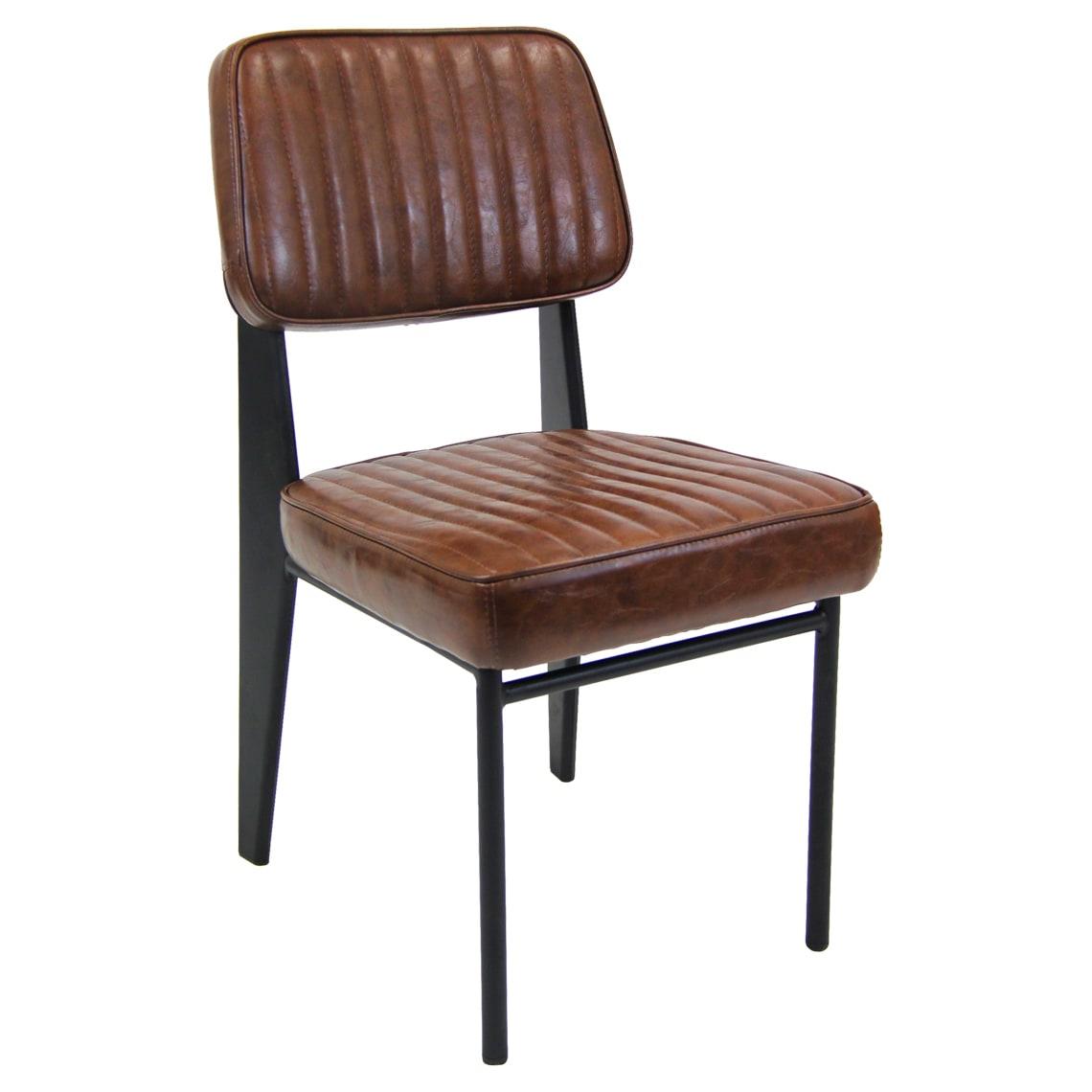 Mid-Century Padded Metal Chair