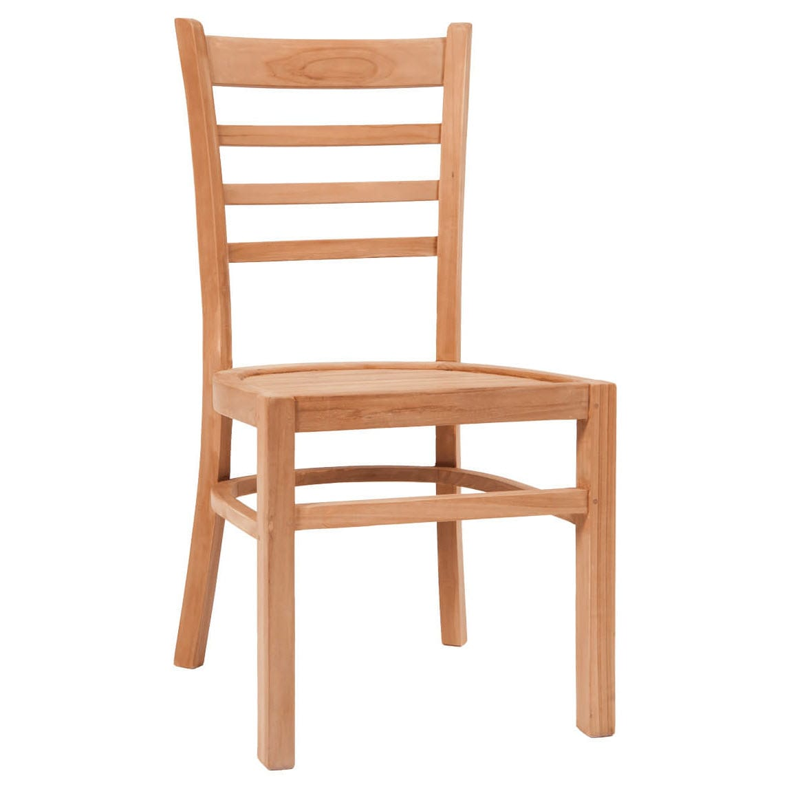 Ladder Back Natural Teak Wood Chair
