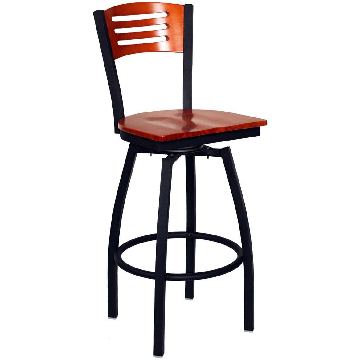 Interchangeable Back Swivel Bar Stool with 3 Slats