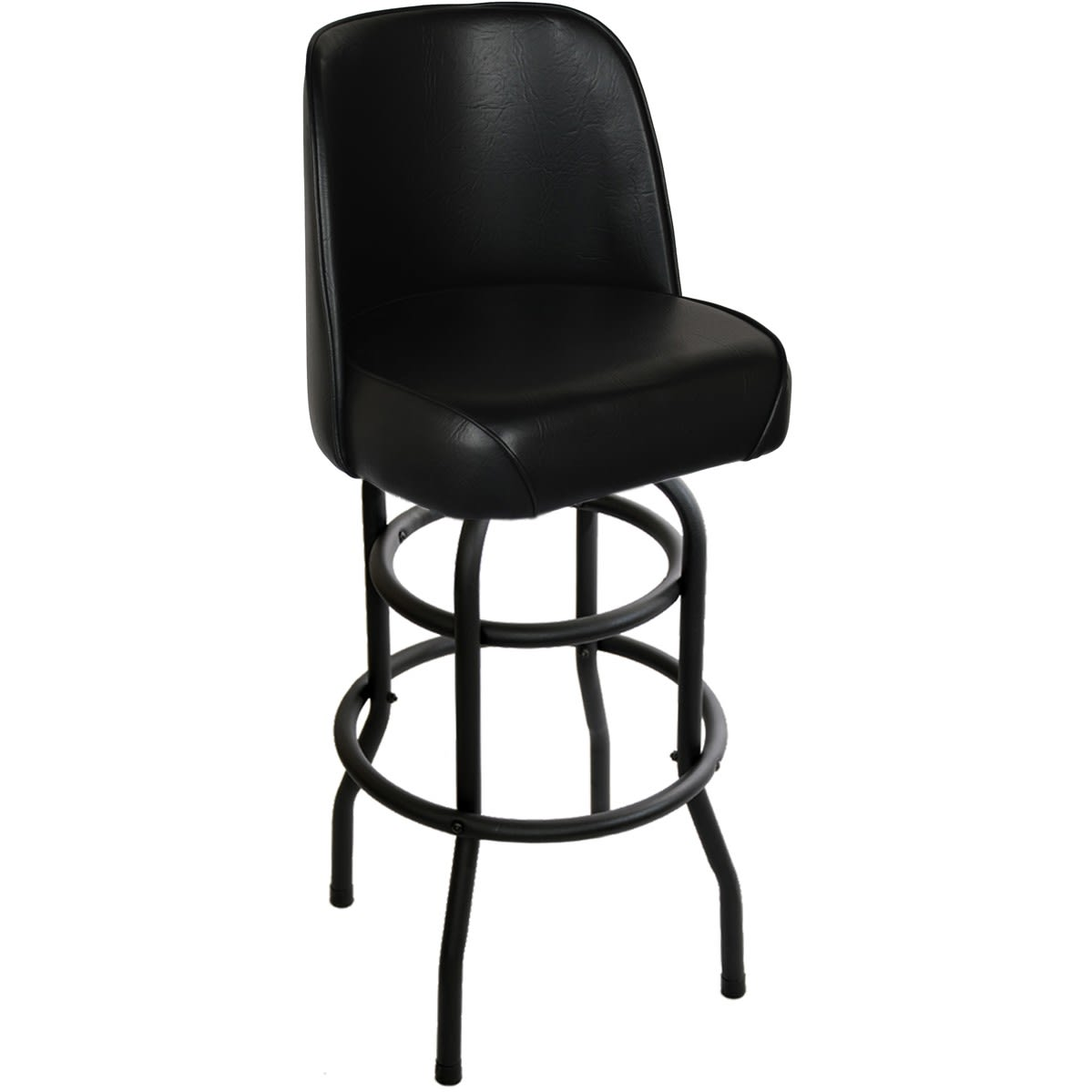 Swivel with a Black Double Ring Frame & Bucket Seat