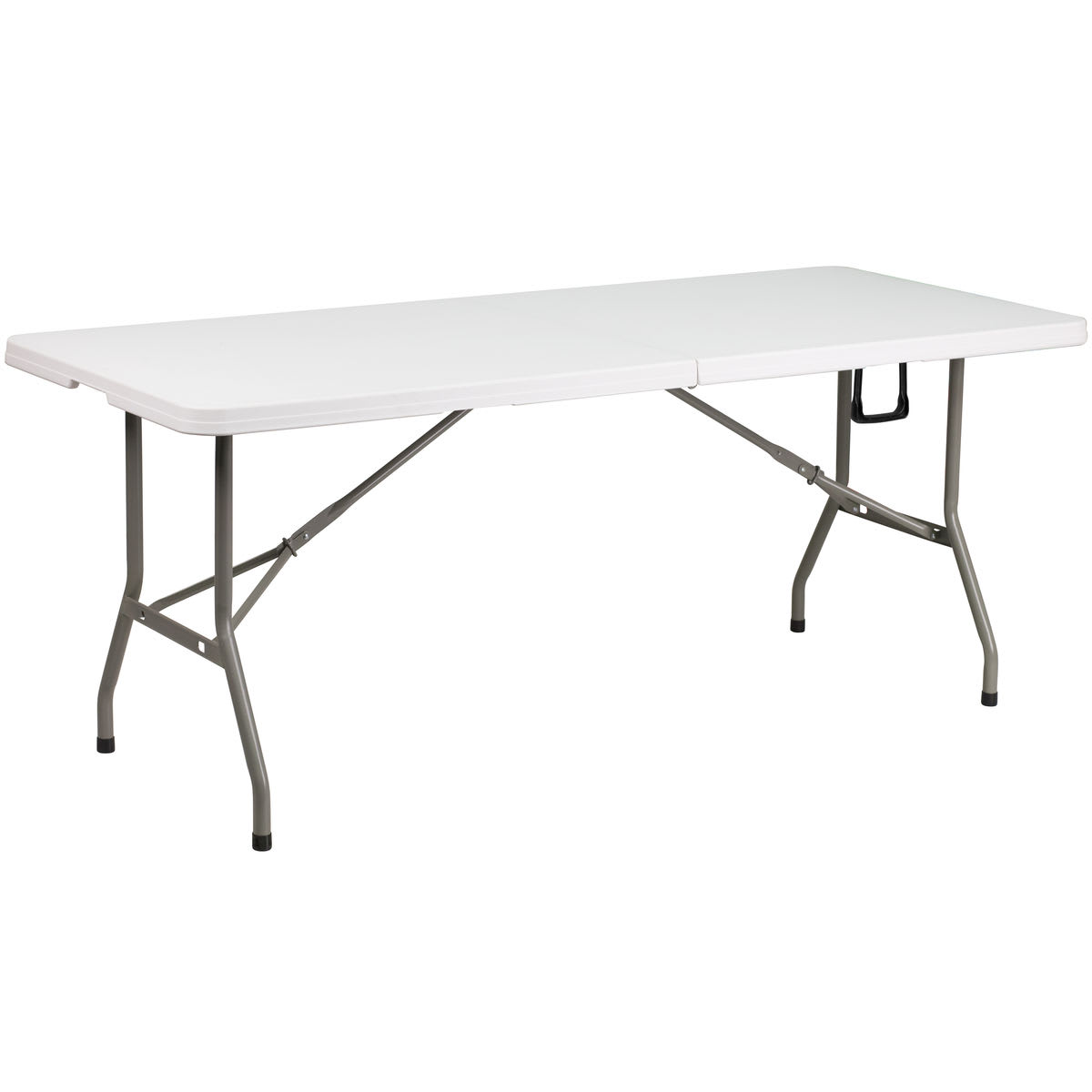 Plastic Folding Table - White Granite