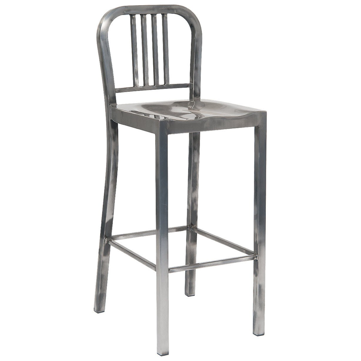 Indoor Metal Bar Stool in Clear Finish