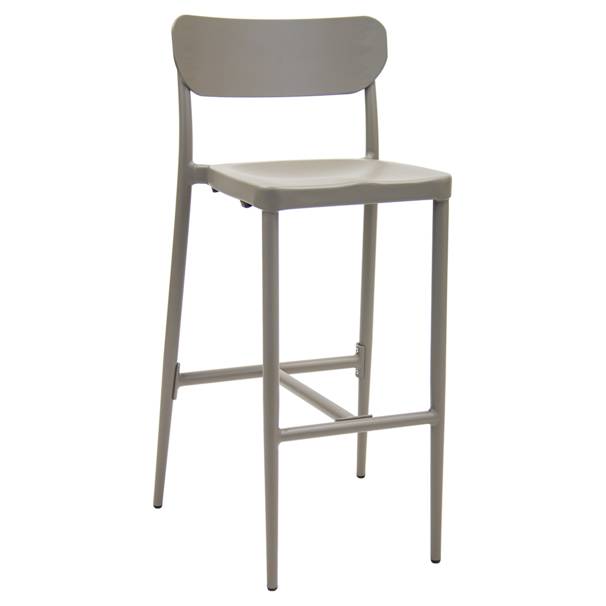 Modern Style Gray Aluminum Patio Bar Stool