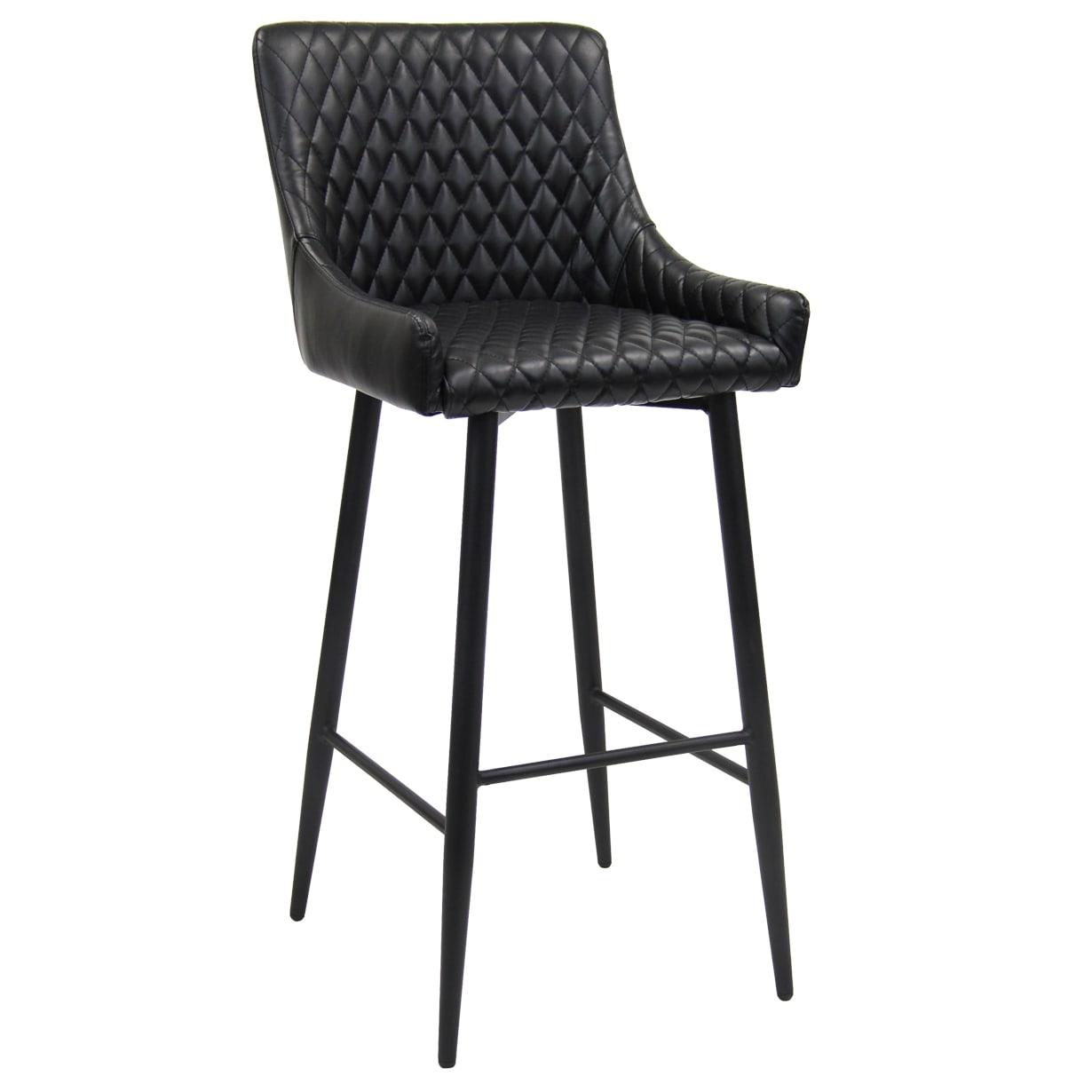 Maal Diamond Stitch Upholstered Bar stool