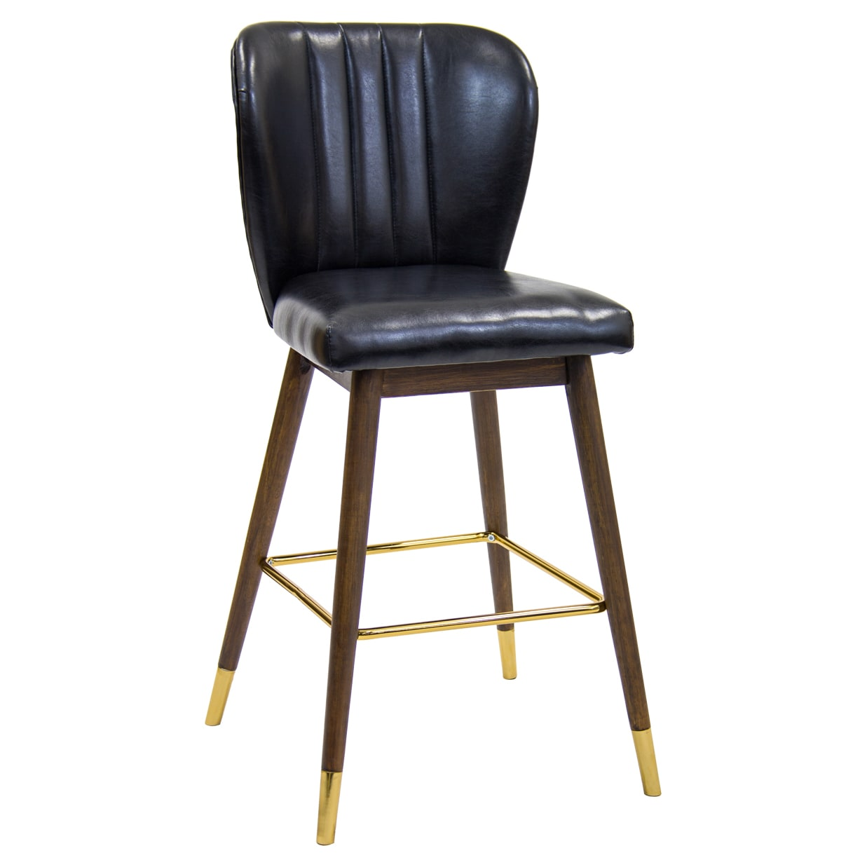 Bronn Padded Wood Bar Stool