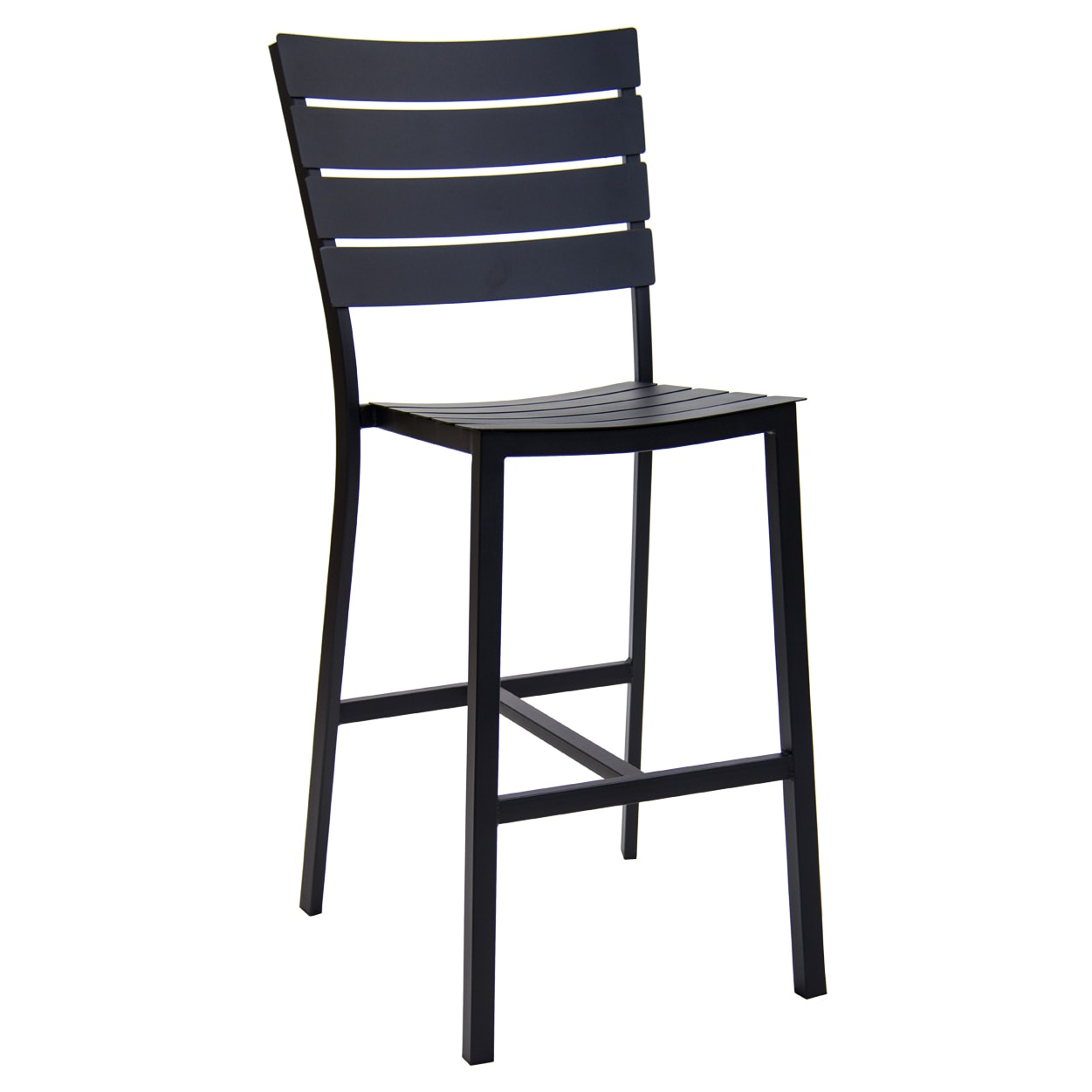 Slatted Metal Patio Bar Stool
