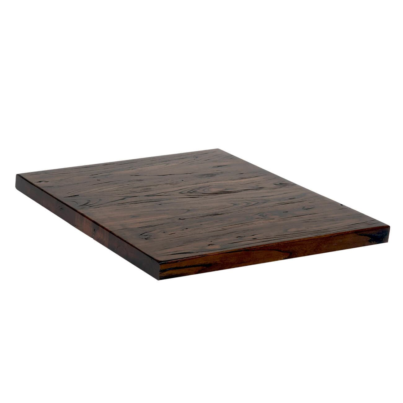 Industrial Series Dark Walnut Elm Wood Table Top