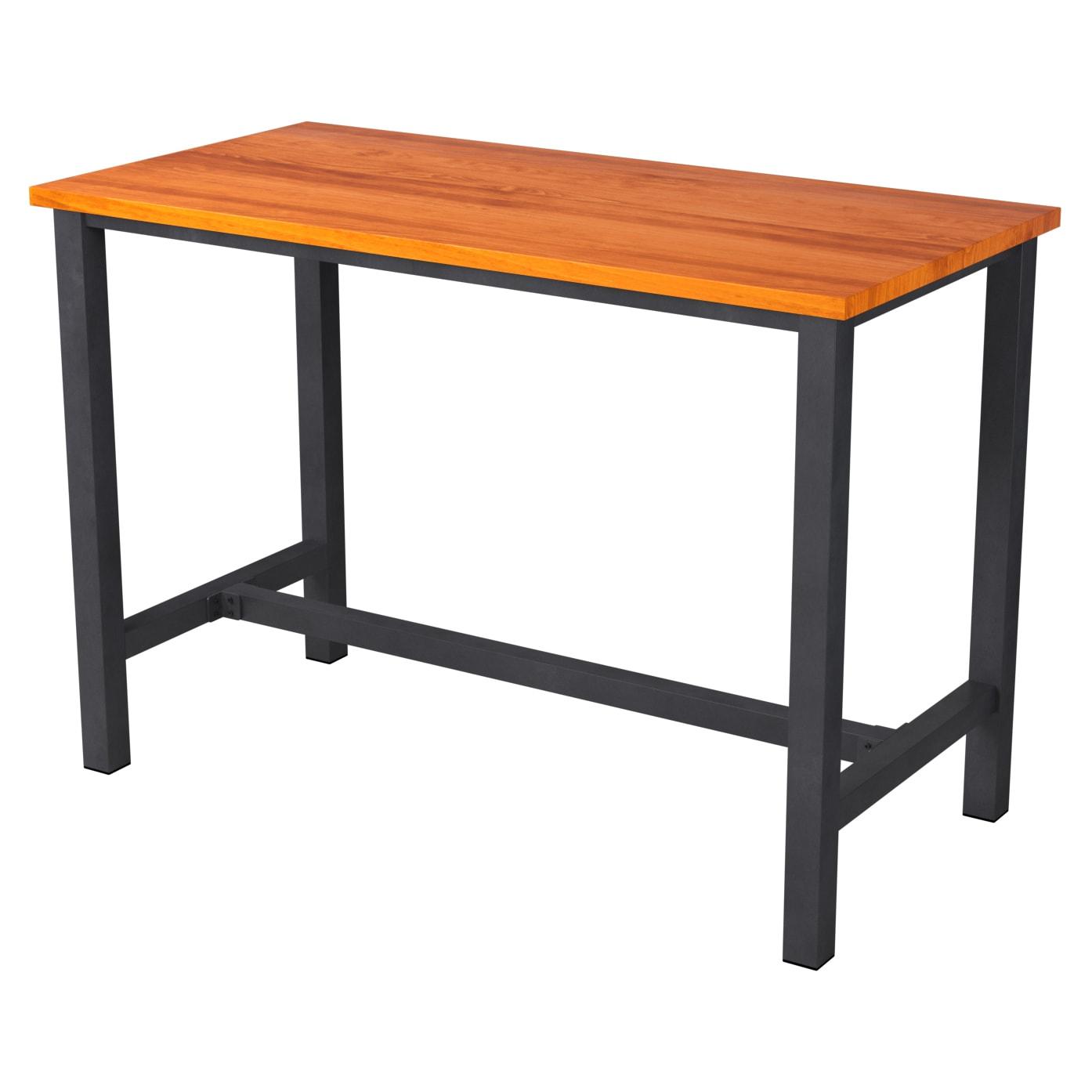 Ottis Bar Height Table Set in Black Finish with Ottis Bar Height Table Set in Black Finish