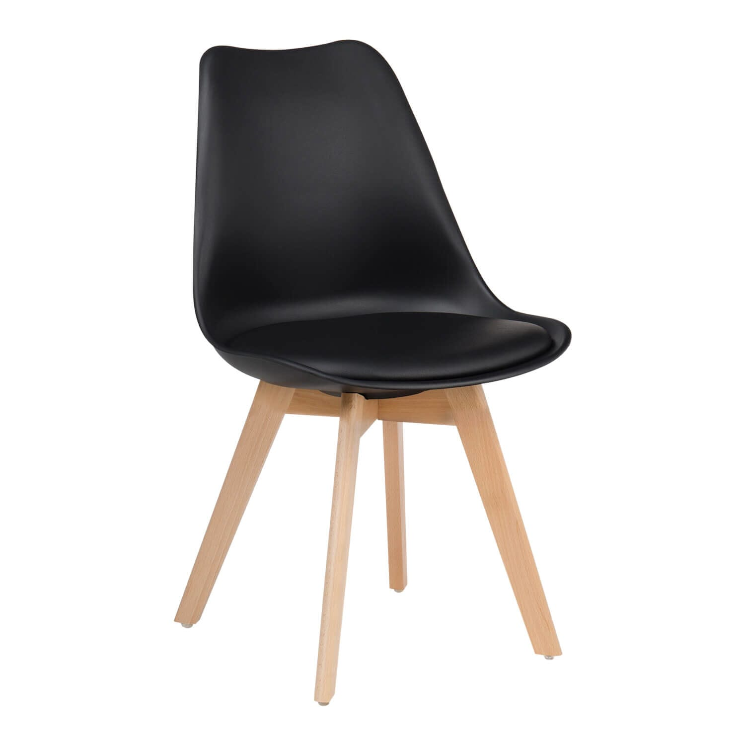 Nordic Style Chair with Black Seat