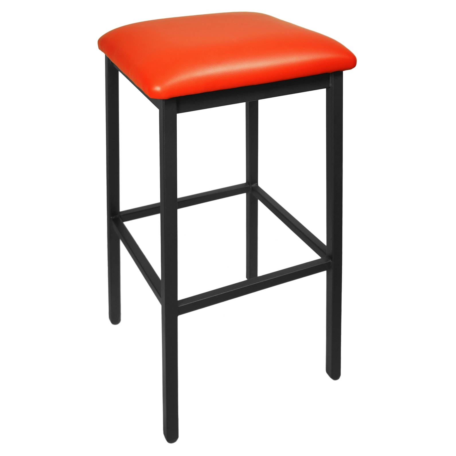 Kollet Backless Bar Stool in Black Finish