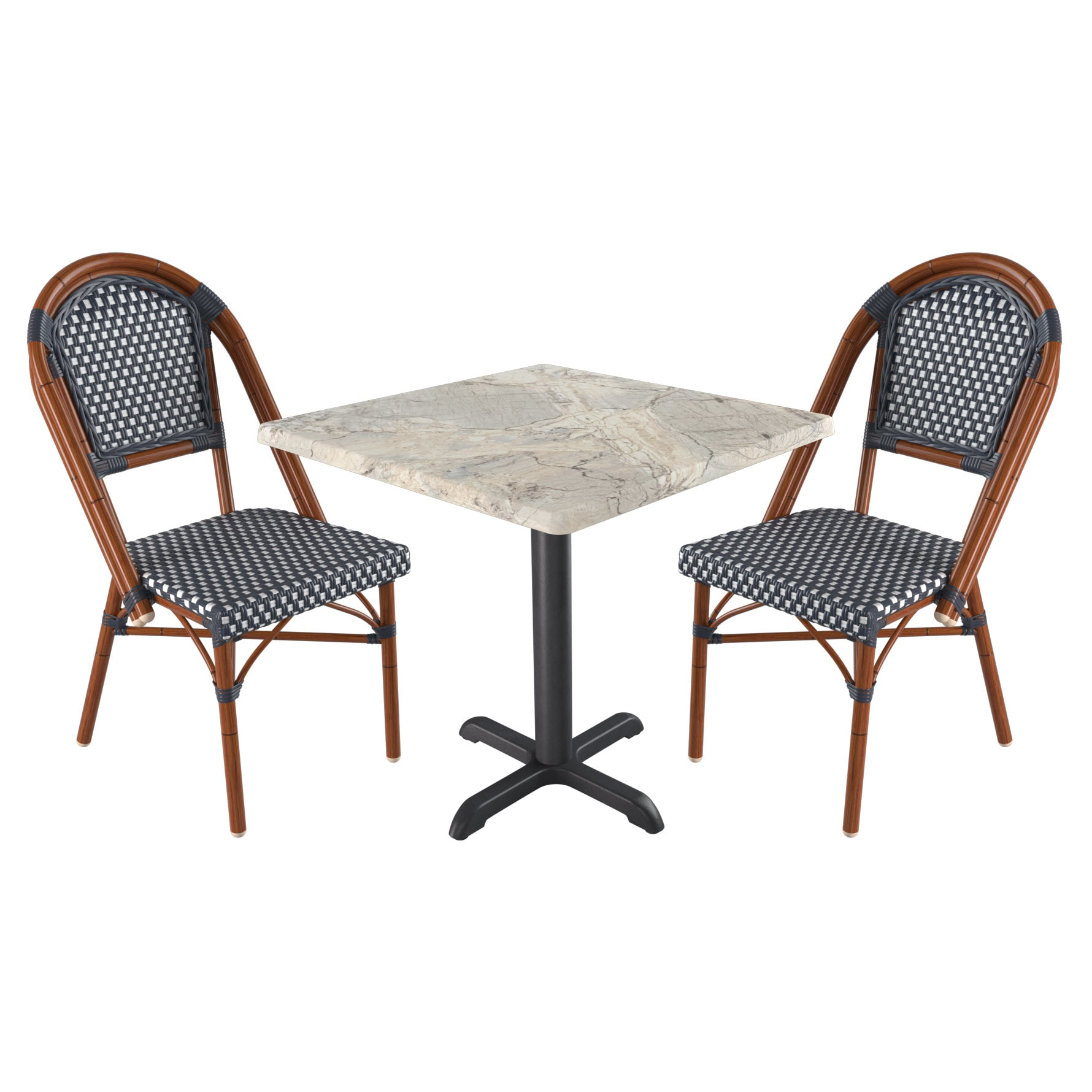 Paris Style Set with 2 Chairs