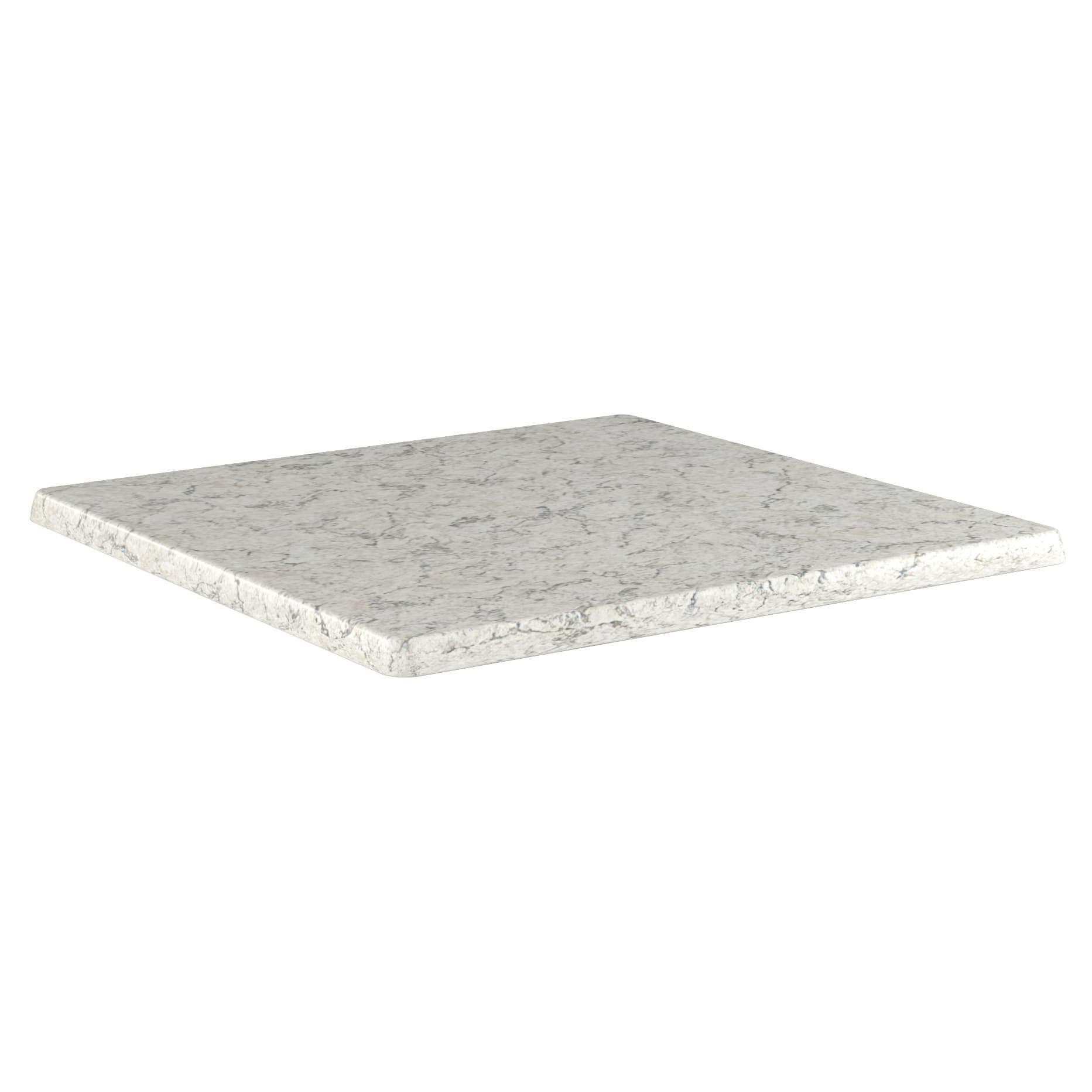 Outdoor Resin Table Top in Light Marble Finish with Outdoor Resin Table Top in Light Marble Finish