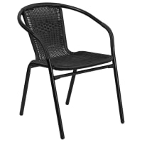Black Indoor-Outdoor Rattan Chair