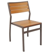 Modern Aluminum Patio Chair with Plastic Teak