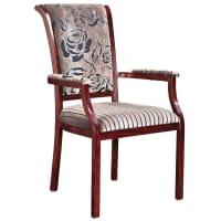 Sybil Senior Living Wood Grain Finish Aluminum Arm Chair