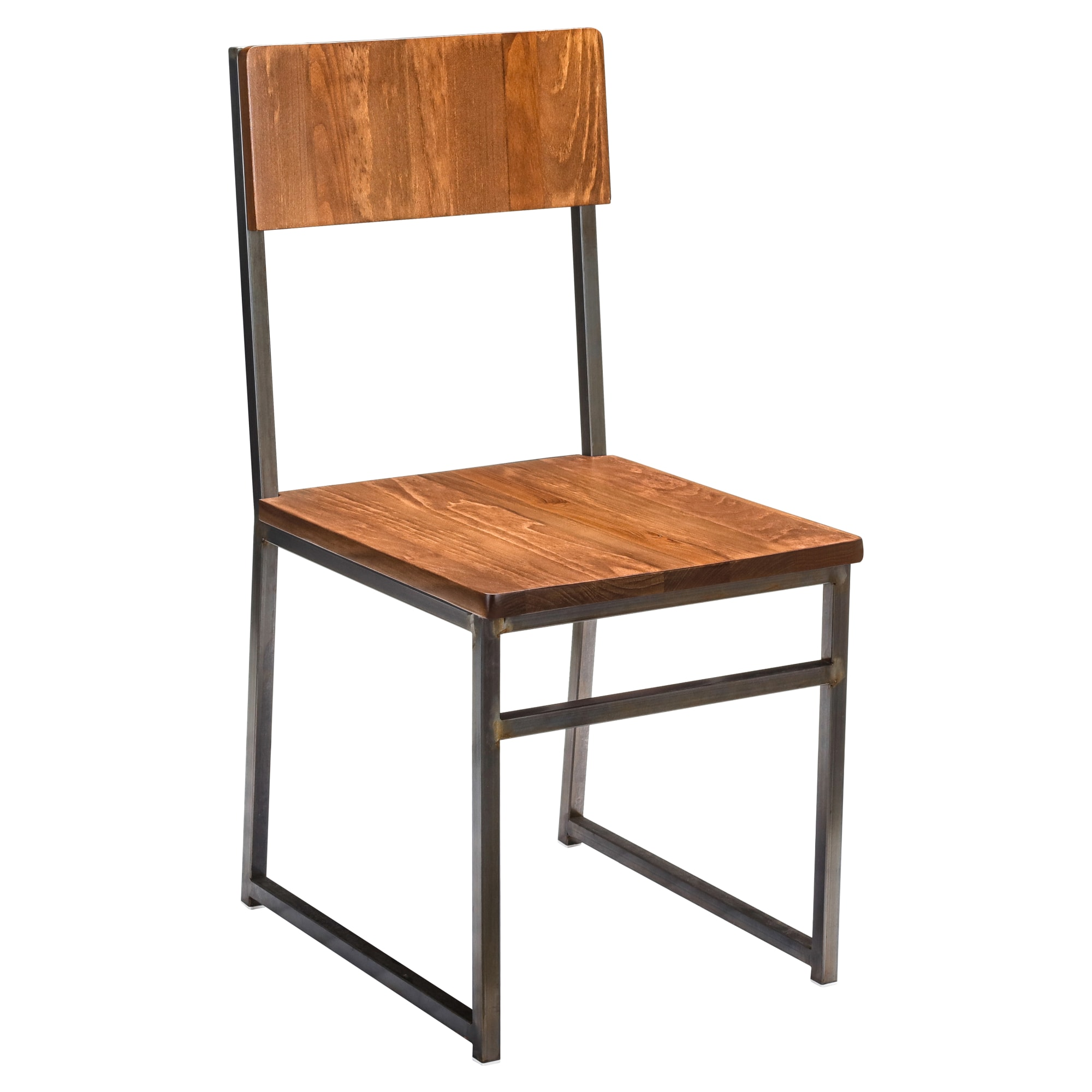 Industrial Series Metal Chair with a Wood Back with Industrial Series Metal Chair with a Wood Back