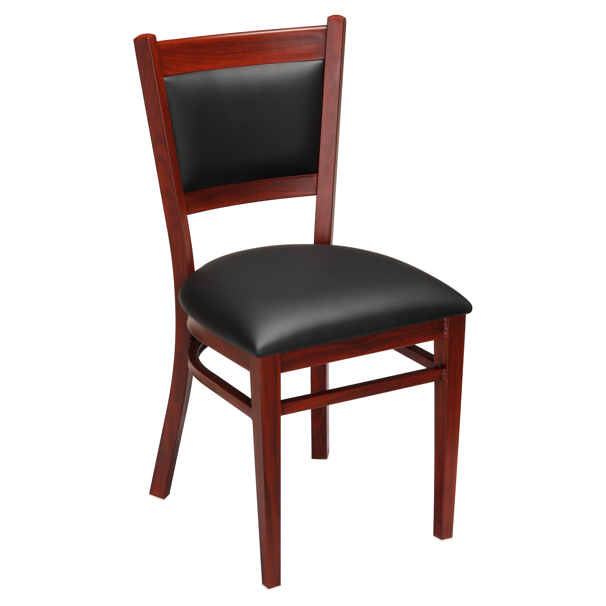 Metal Padded Back Chair with Premium Wood Look Finish with Metal Padded Back Chair with Premium Wood Look Finish