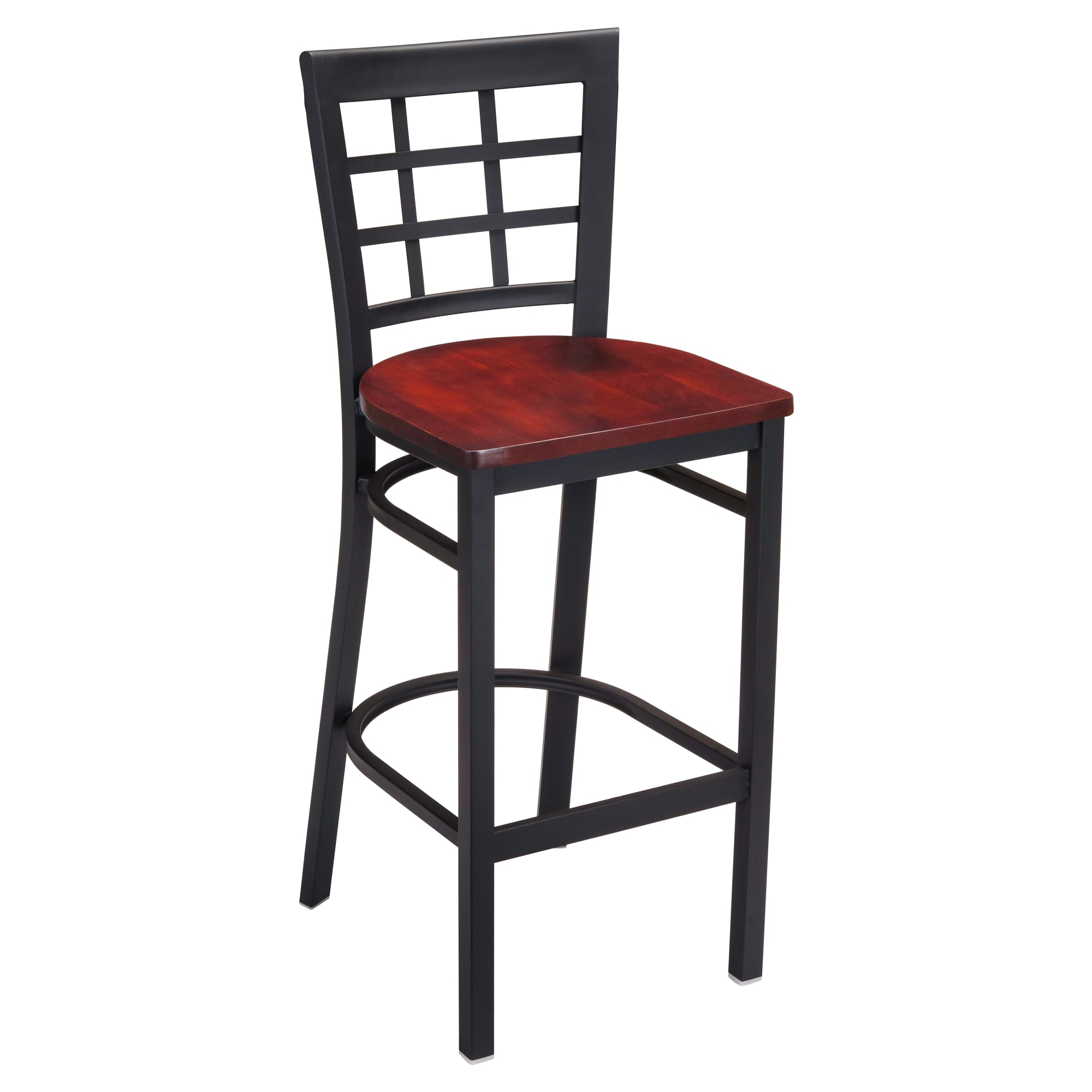 Window Back Metal Bar Stool with Window Back Metal Bar Stool