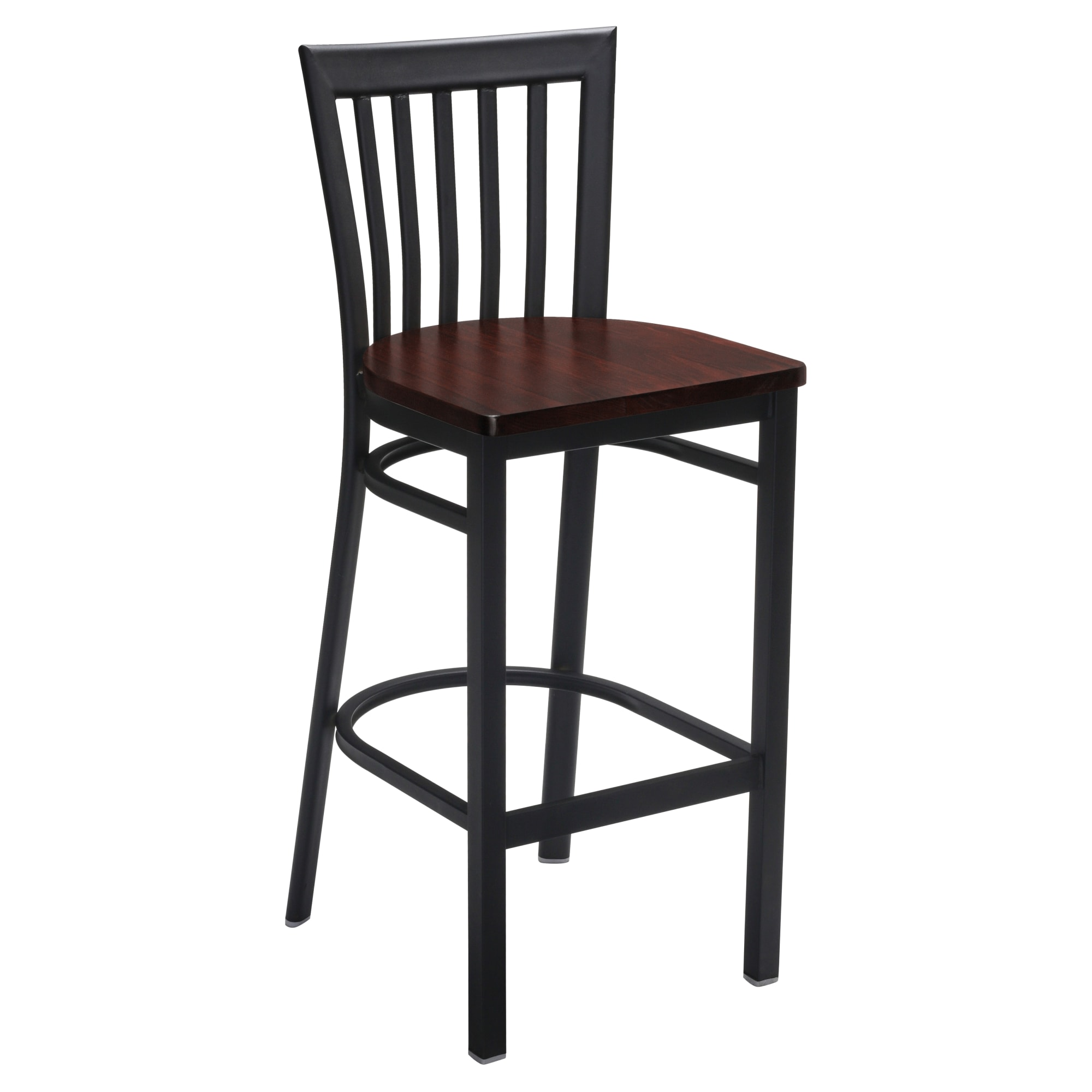 Elongated Vertical Back Metal Bar Stool with Elongated Vertical Back Metal Bar Stool