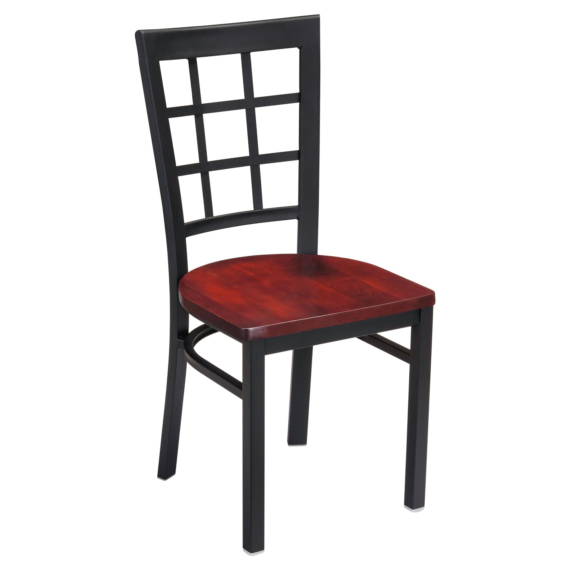 Window Back Metal Chair with Window Back Metal Chair
