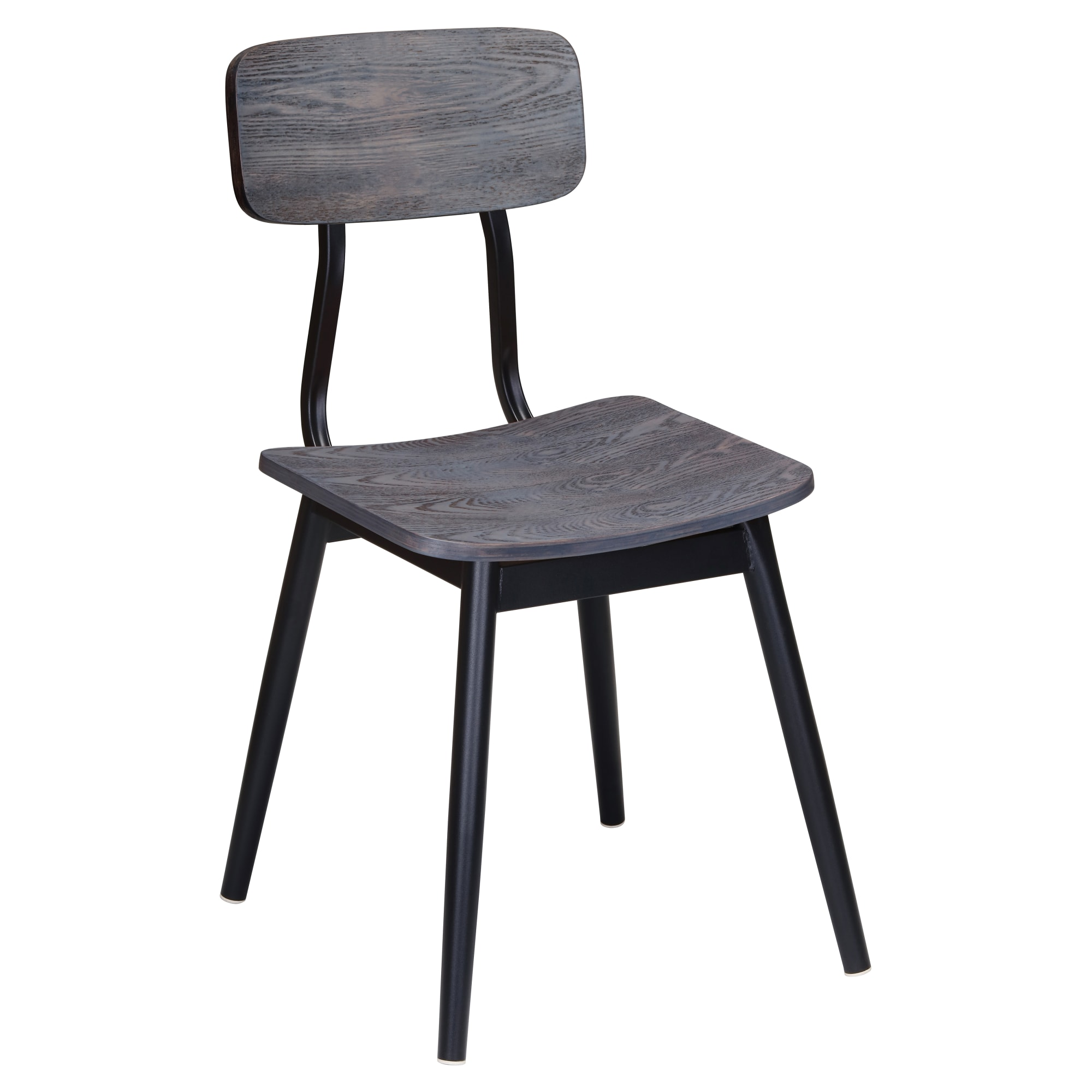 Basel Metal Chair with Veneer Back and Seat with Basel Metal Chair with Veneer Back and Seat