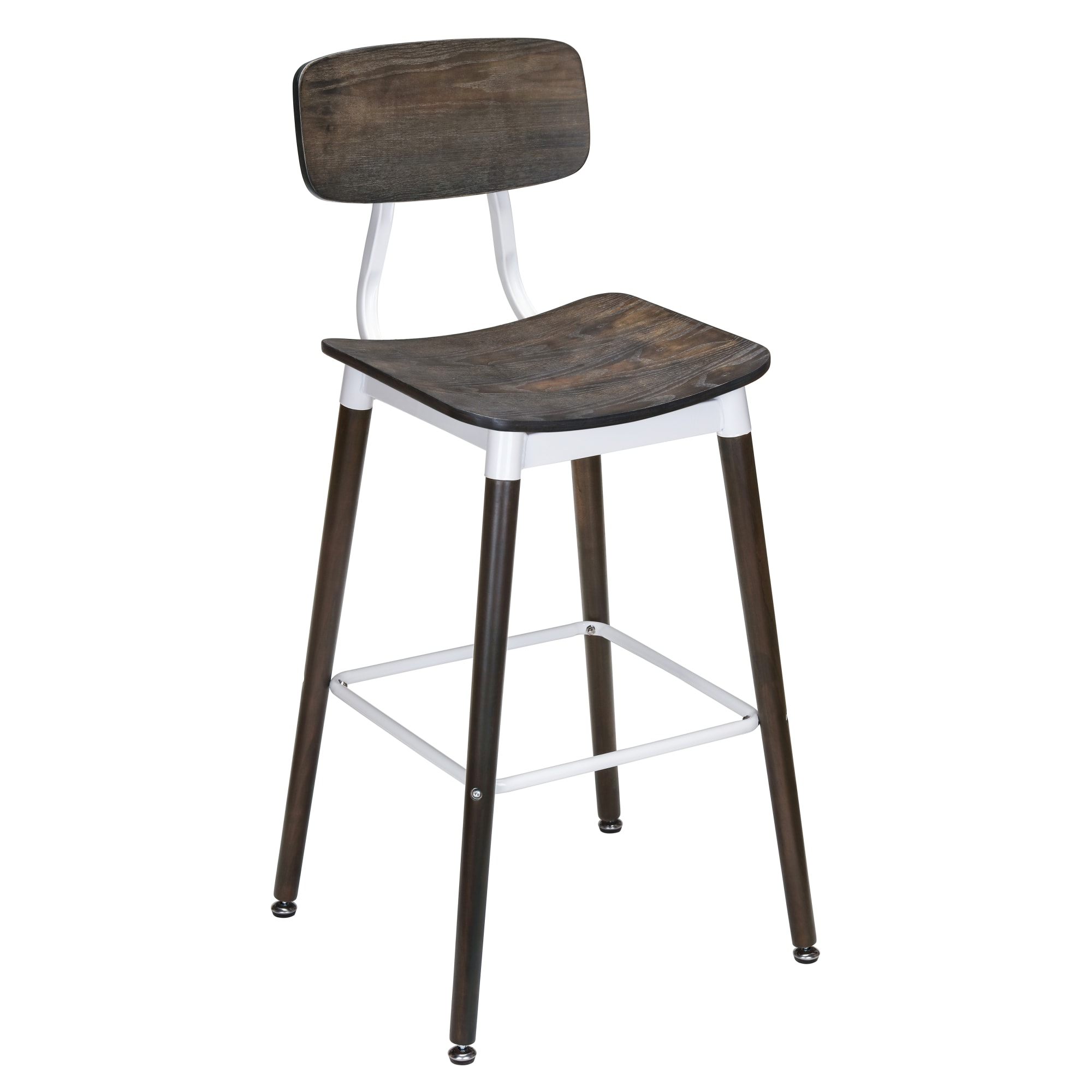 Slate White Metal Restaurant Bar Stool