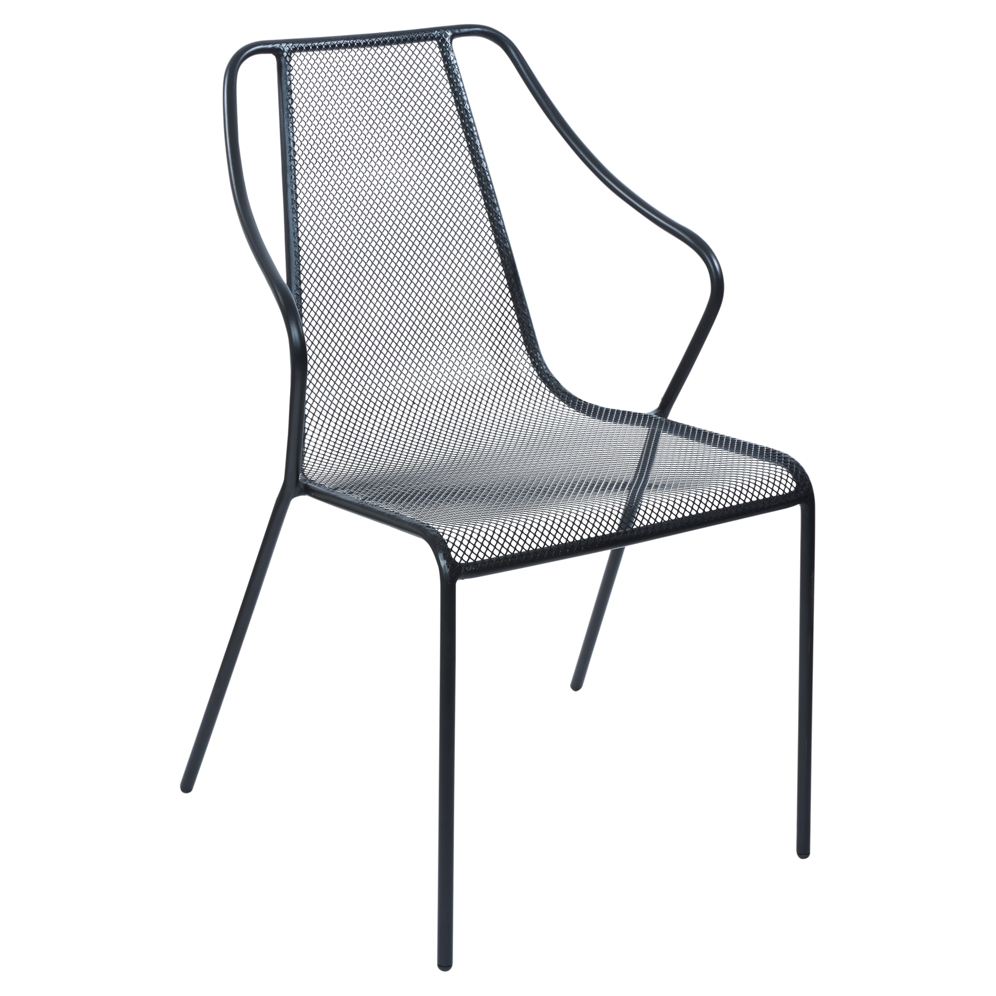 Modern Metal Mesh Outdoor Arm Chair