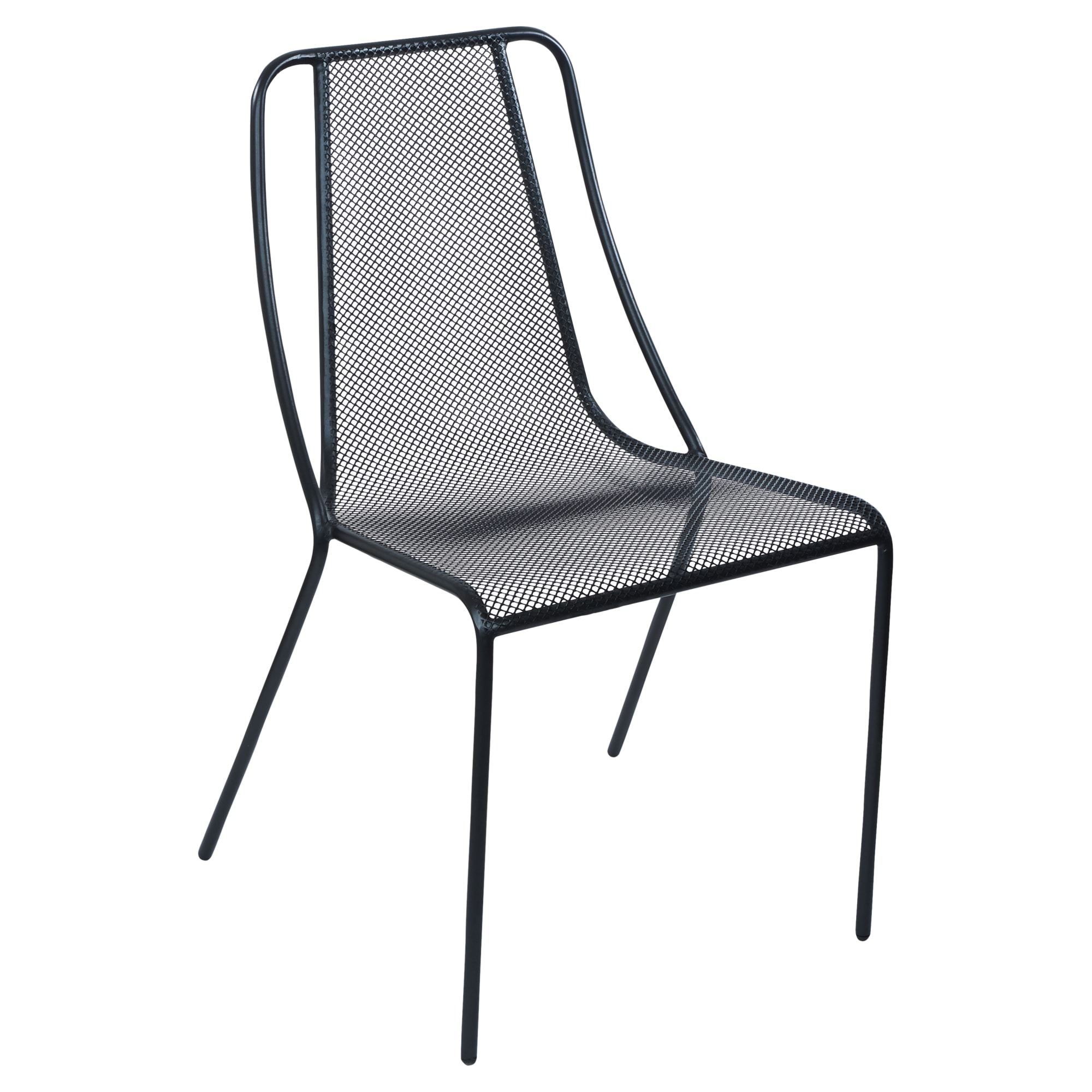 Modern Metal Mesh Outdoor Chair