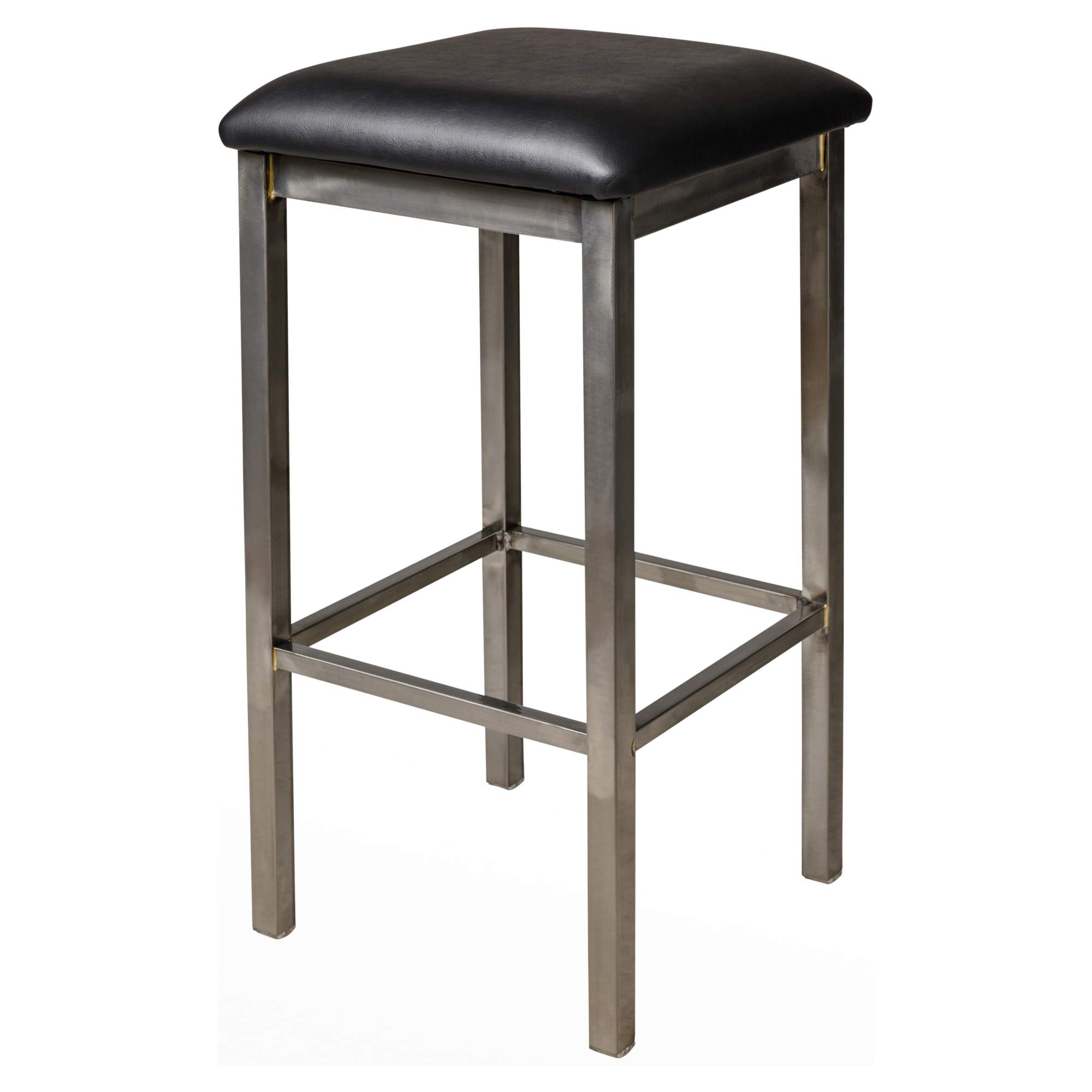 Kollet Backless Bar Stool in Clear Coat Finish