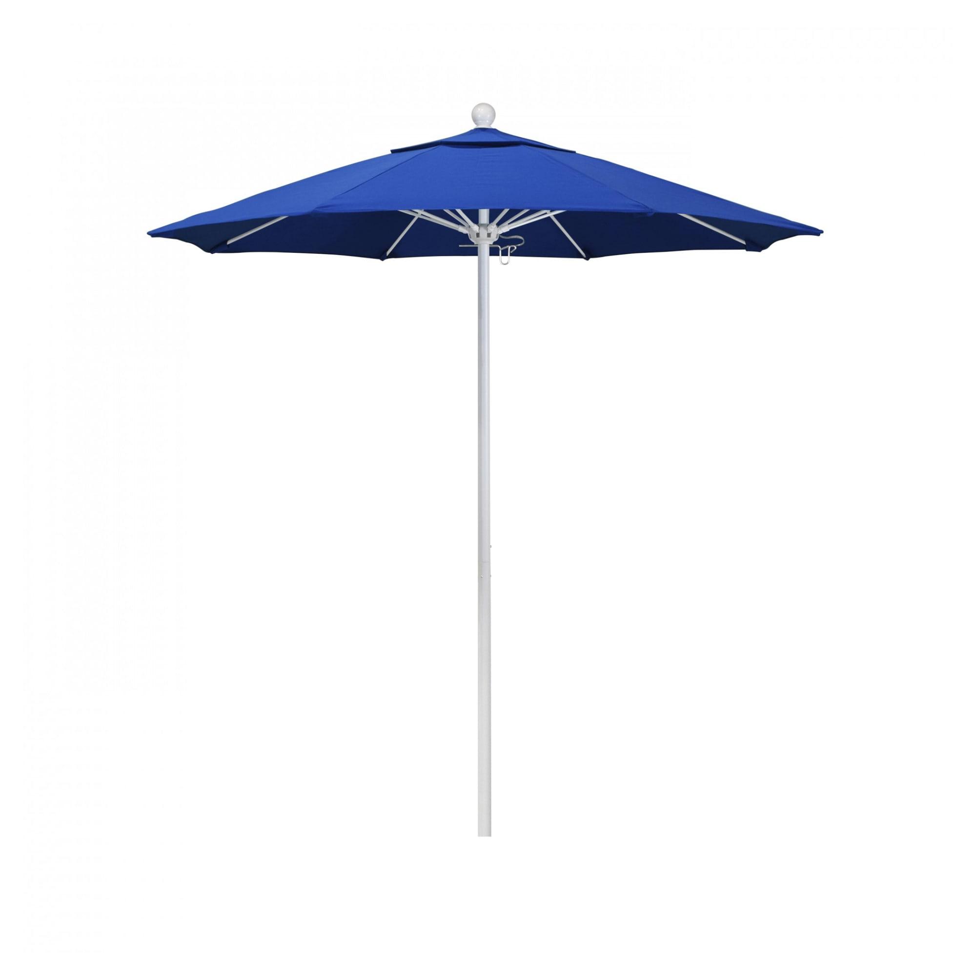 7.5 ft Casey Matted White Aluminum Commercial Umbrella with 7.5 ft Casey Matted White Aluminum Commercial Umbrella
