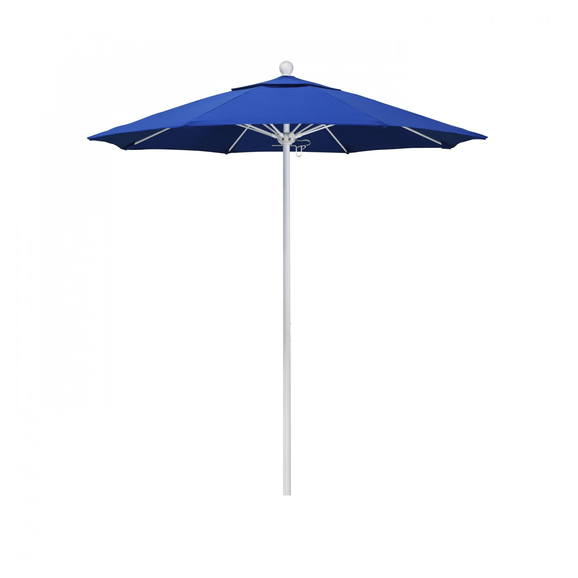9 ft Casey Matted White Aluminum Commercial Umbrella with 9 ft Casey Matted White Aluminum Commercial Umbrella