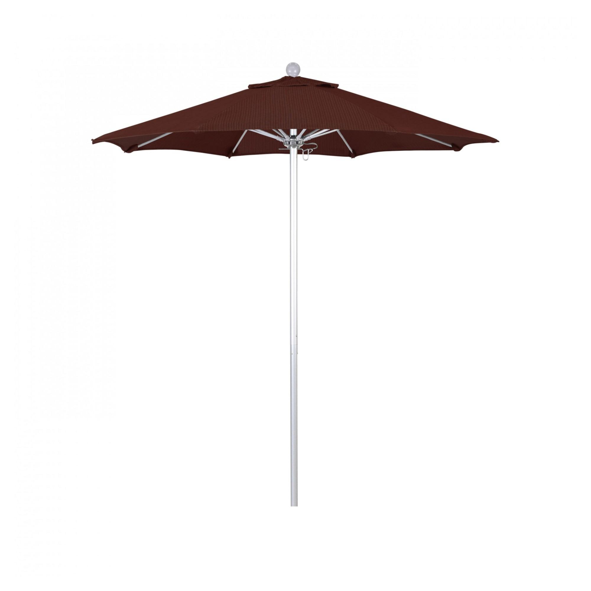 7.5 ft Casey Silver Anodized Aluminum Commercial Umbrella with 7.5 ft Casey Silver Anodized Aluminum Commercial Umbrella