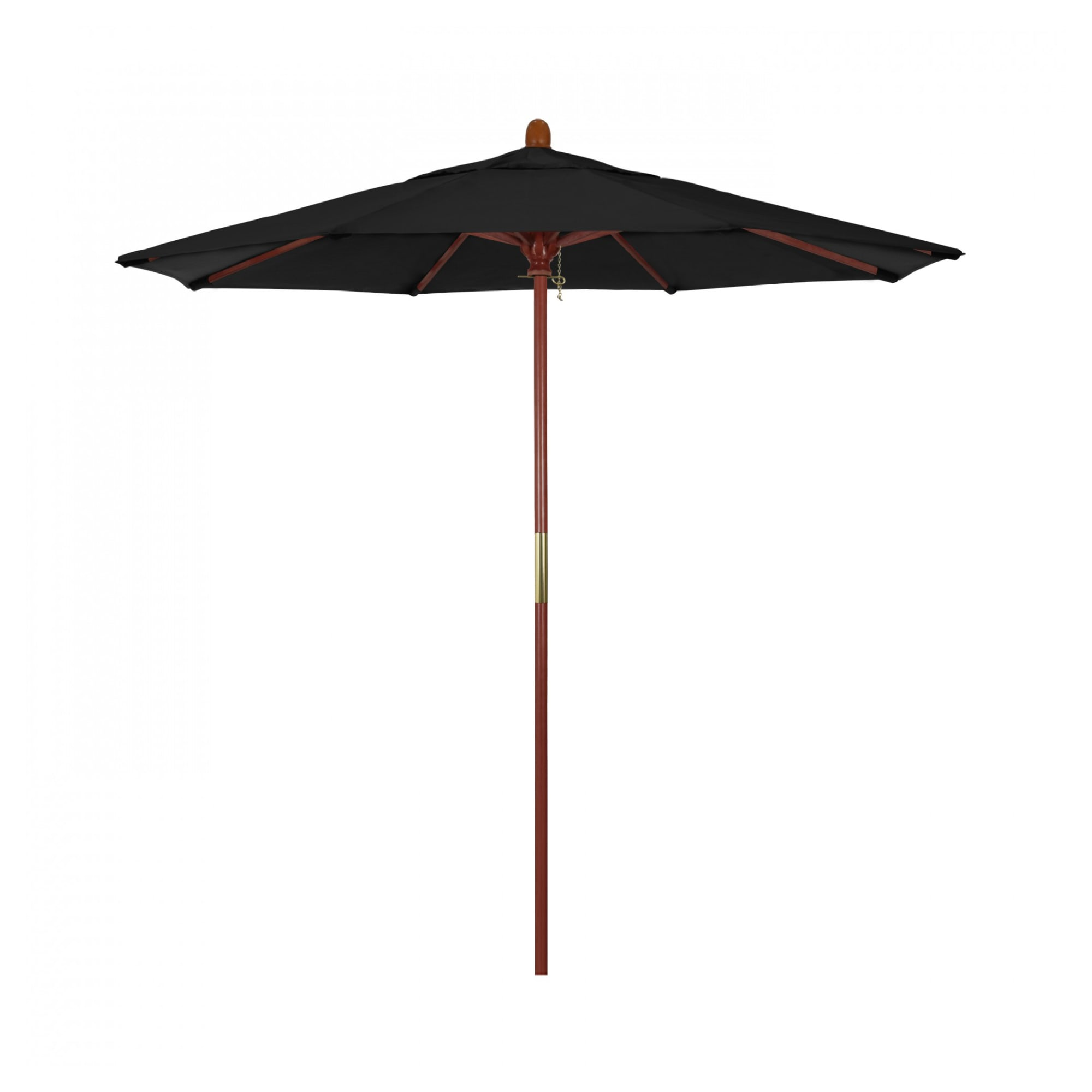 7.5 ft Ventura Wood Commercial Umbrella with 7.5 ft Ventura Wood Commercial Umbrella