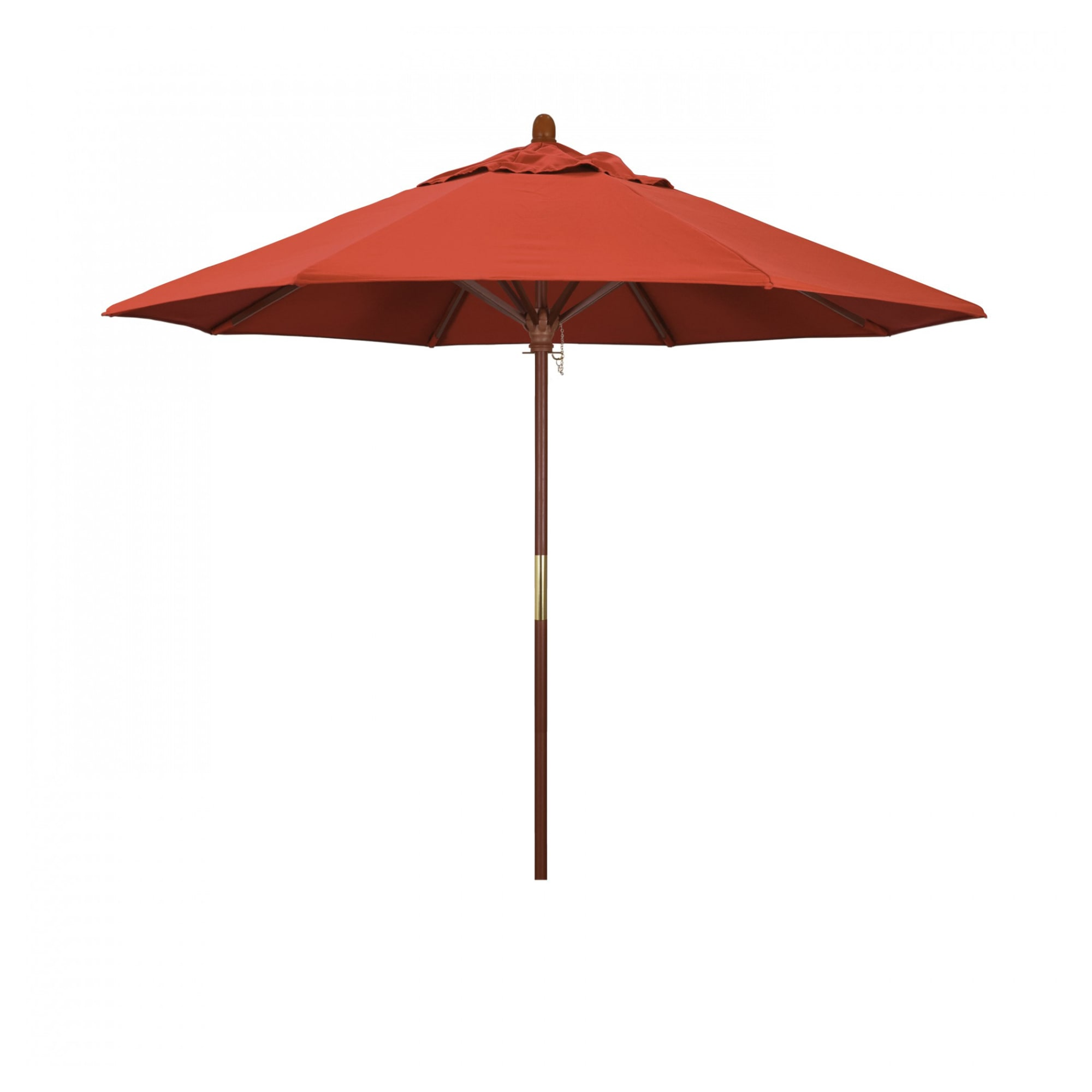 9 ft Ventura Wood Commercial Umbrella with 9 ft Ventura Wood Commercial Umbrella