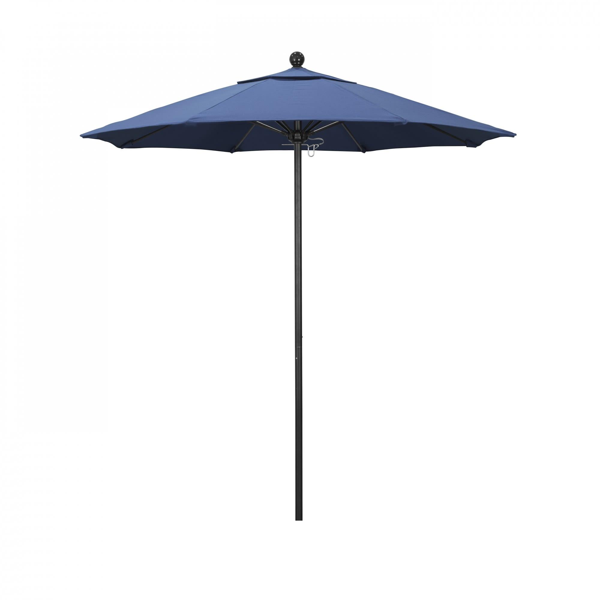 7.5 ft Casey Stone Black Aluminum Commercial Umbrella with 7.5 ft Casey Stone Black Aluminum Commercial Umbrella