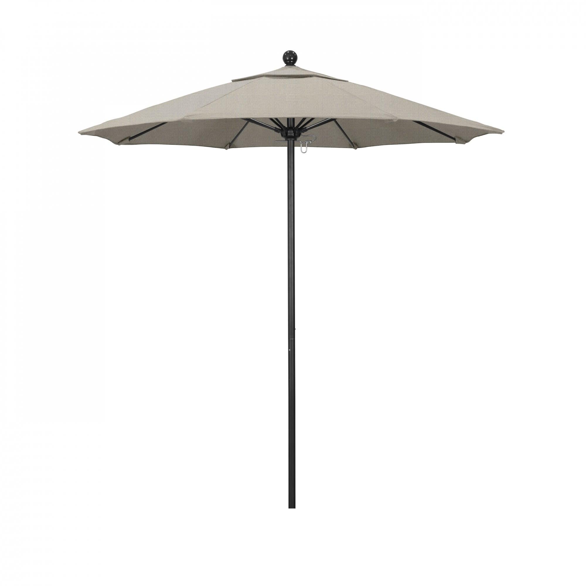 9 ft Casey Stone Black Aluminum Commercial Umbrella with 9 ft Casey Stone Black Aluminum Commercial Umbrella