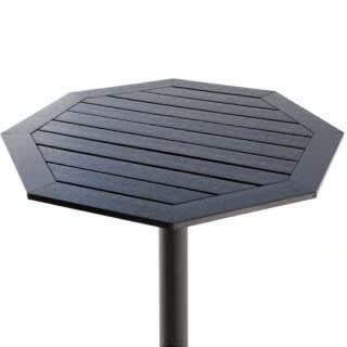 Dark Plastic-Teak Table Top